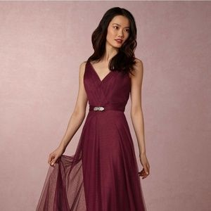 NEW ANTHROPOLOGIE BHLDN $250 BHLDN BLACK CHERRY ZA